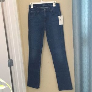 7 for all mankind straight jeans size 28